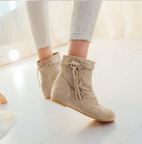 da3ecf223b56 Boots-Women s Casual Suede Leather Tassel Ankle Boots – styleNB