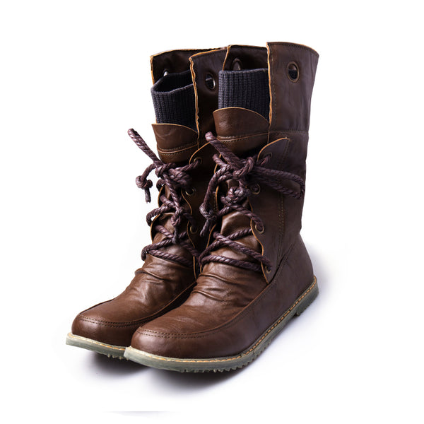 Boots Women S Fashion Lace Up Mid Calf Motorcycle Boots Stylenb