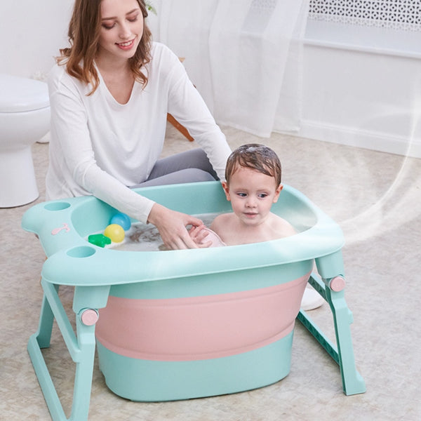 New Style Portable Antiskid Collapsible Baby Newborn Bathtub