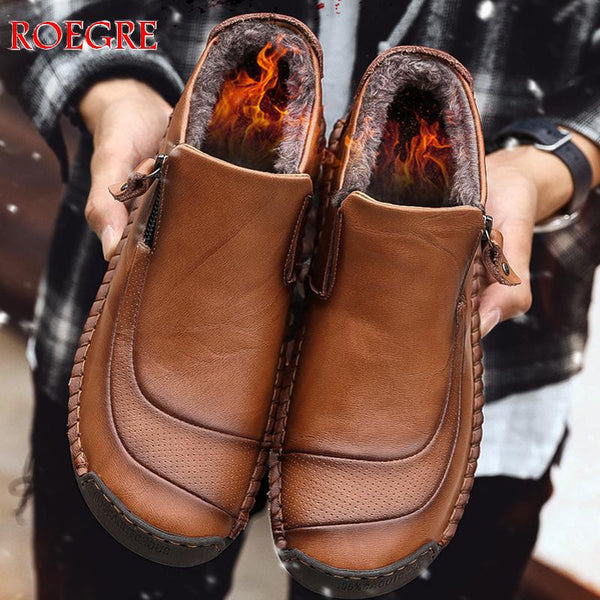 Winter New Men Keep Shoes High Quality Men's Leather Shoes Ankle Boots