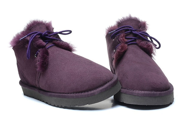 Best Genuine Sheepskin Leather Woman Snow Boots 100% Natural Fur Snow Boots