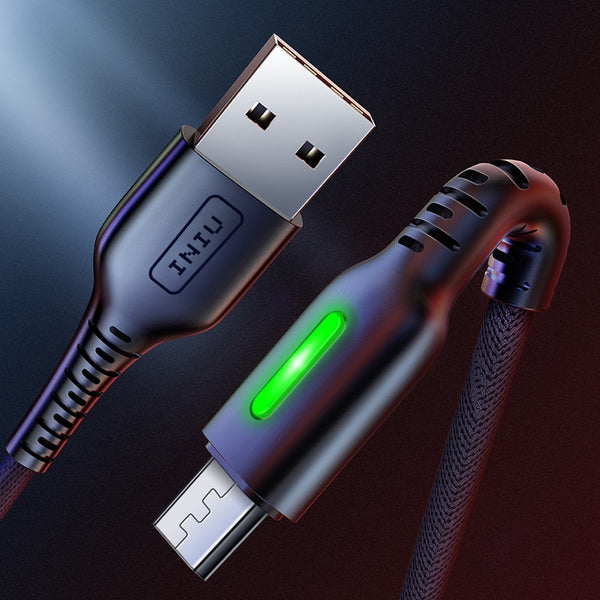 3m LED Micro USB Type C Phone Fast Charging Cable