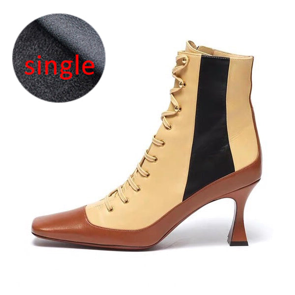 Genuine Leather Women Boots Fashion Shoes