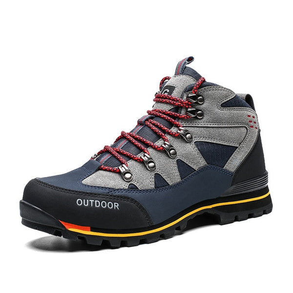 Men Leather Casual Outdoor Non-slip Waterproof Hiking Sport Shoes