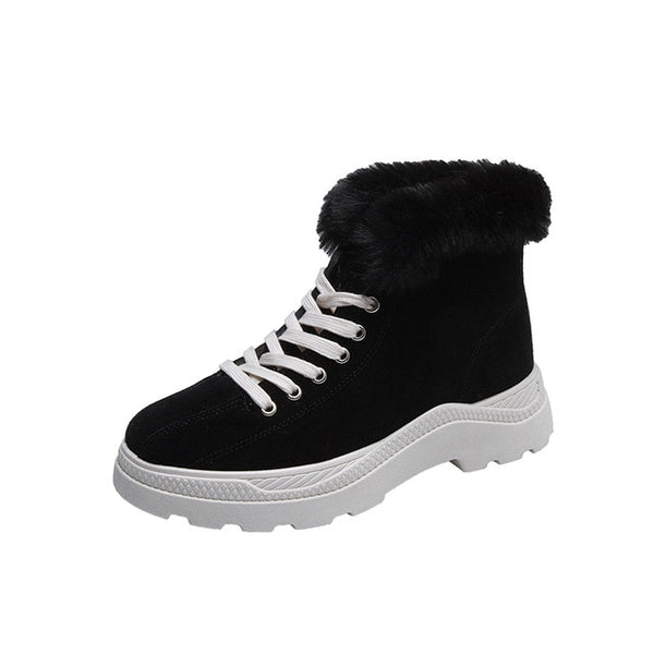 breathable flat shoes ladies high-top sneakers wild casual Lac-up women's vulcanized shoes