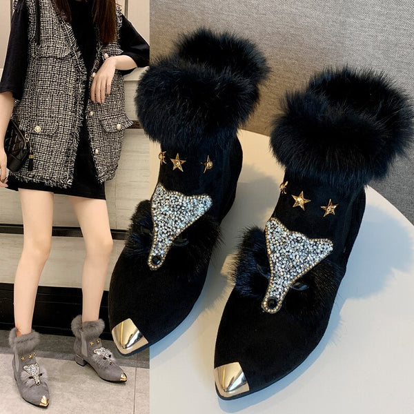 2020  New Ankle Elegant Boots Sexy lady high heels