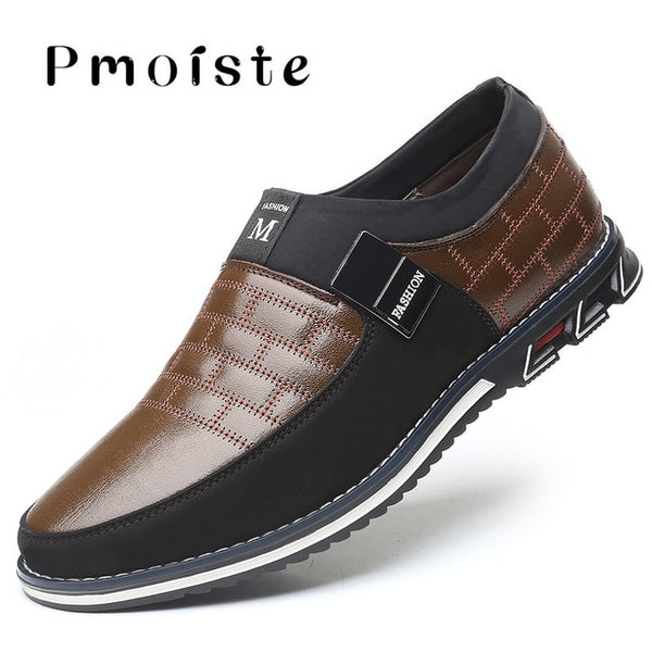 Genuine Leather Breathable Mens shoes casual Plus Size