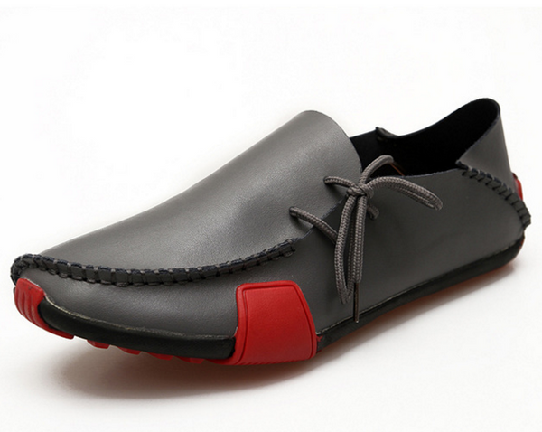 Spring Summer Men Breathable Genuine Leather Shoes