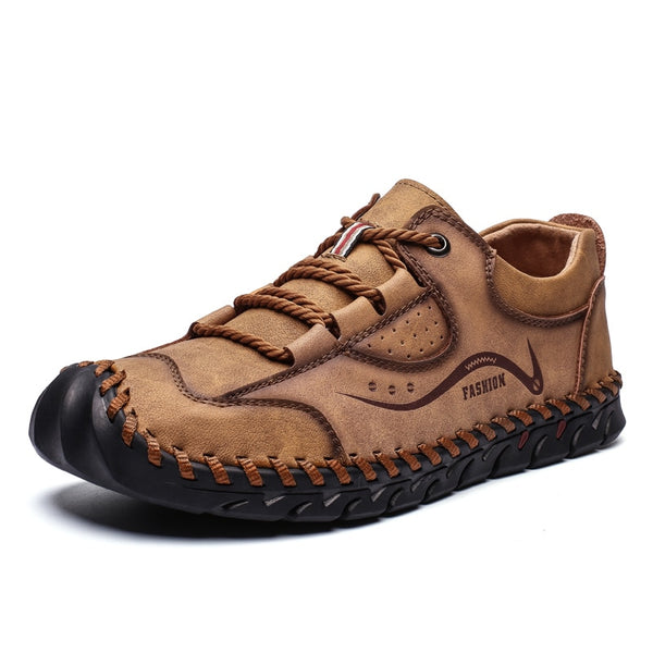 2020 High Quality Leather Handmade Breathable Casual Shoes