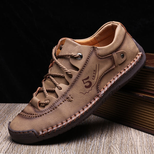New Spring Casual Leather Shoes Men Handmade Moccasins
