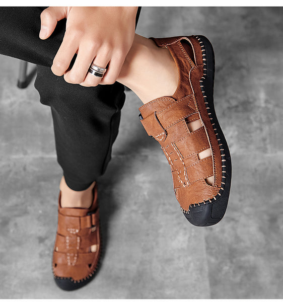2020 Leather Men's Soft Beach High Quality Sandals