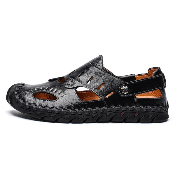 Classic Roman Fashion Sandals Summer Breathable Men's Leather Sandals