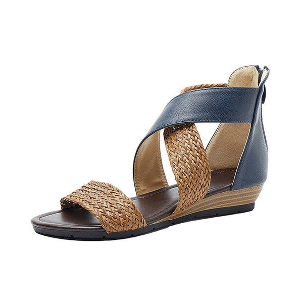 Women Bohemia Gladiator Woven Beach Retro Roman Sandals
