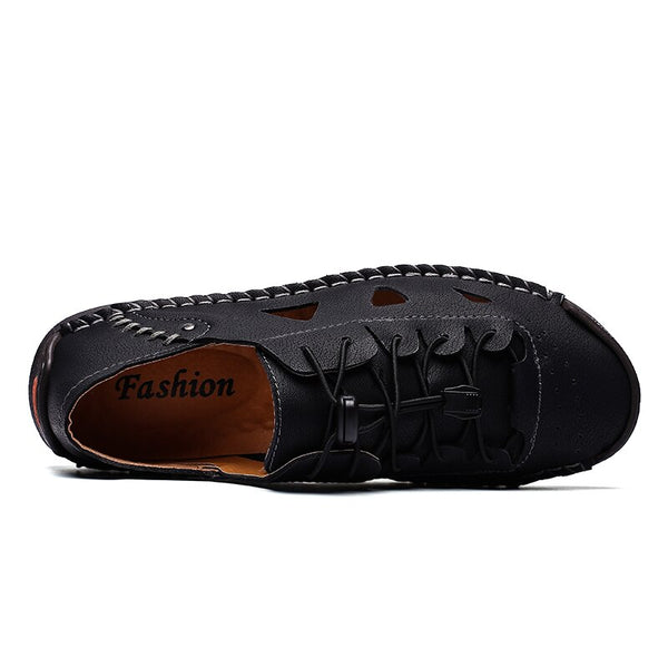 Leather Men Casual Soft Flats Breathable Loafers