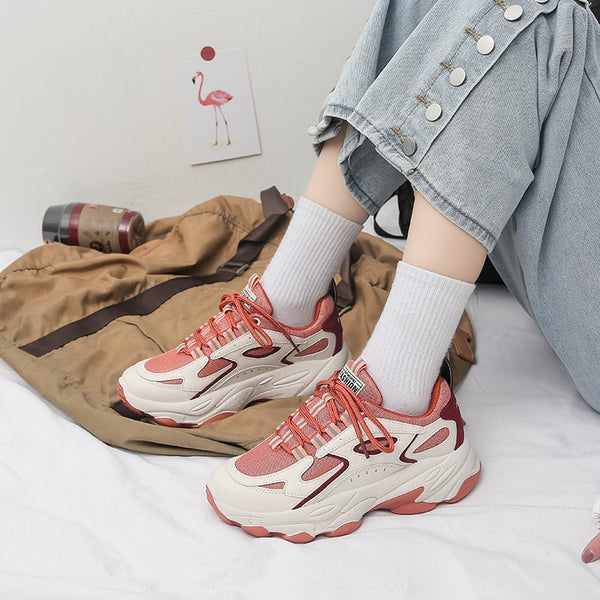 Spring new sports shoes female 2020 Korean version of the wild casual sports shoes