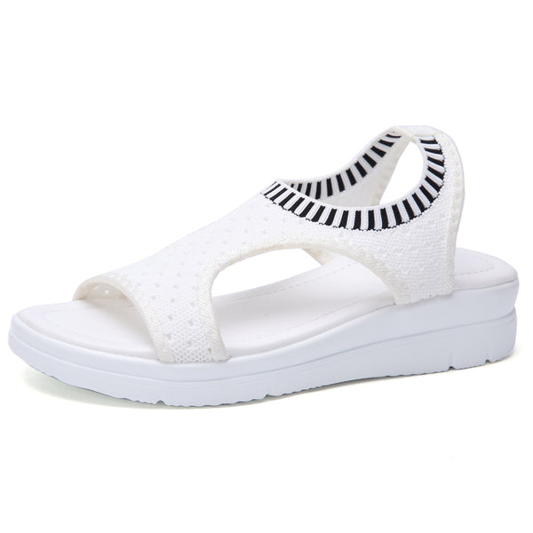2020 Women Wedge Comfortable Mesh Slip-on Flat Sandals