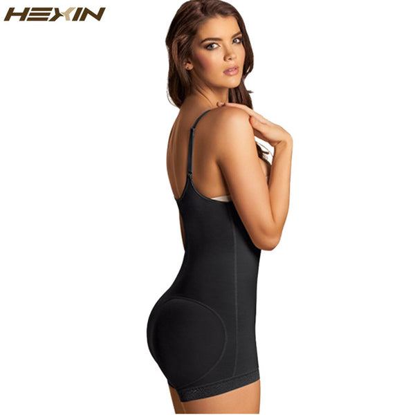 Body Shaper-Clip and Zip Latex Waist Shapers Slimming Shapewear Bodysuit Full Body Shaper