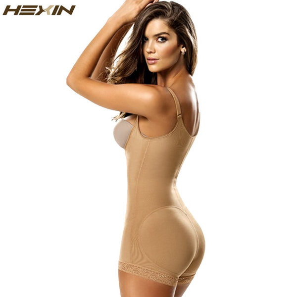 c01f28a53 Body Shaper-Clip and Zip Latex Waist Shapers Slimming Shapewear Bodysuit Full  Body Shaper