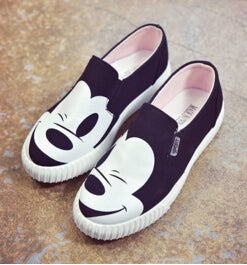 Shoes-Women's  Mickey Canvas Flat Shoes
