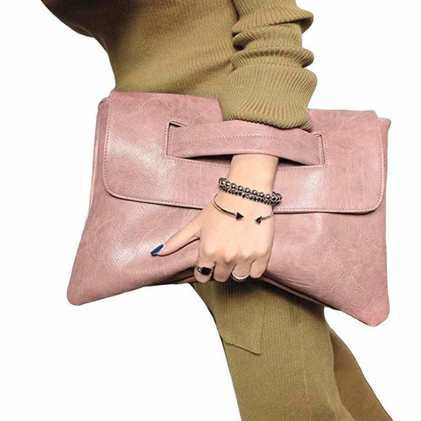 Women's Bags - 2018 Hot Selling Leather Crossbody Envelope Clutch Bag
