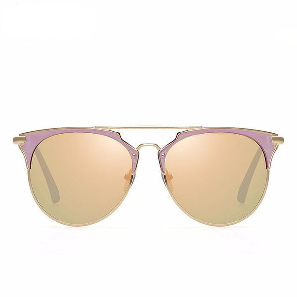 4e7f08414f Sunglasses - Mirror Rose Gold Round Luxury Brand Star Style Shades Sun  Glasses