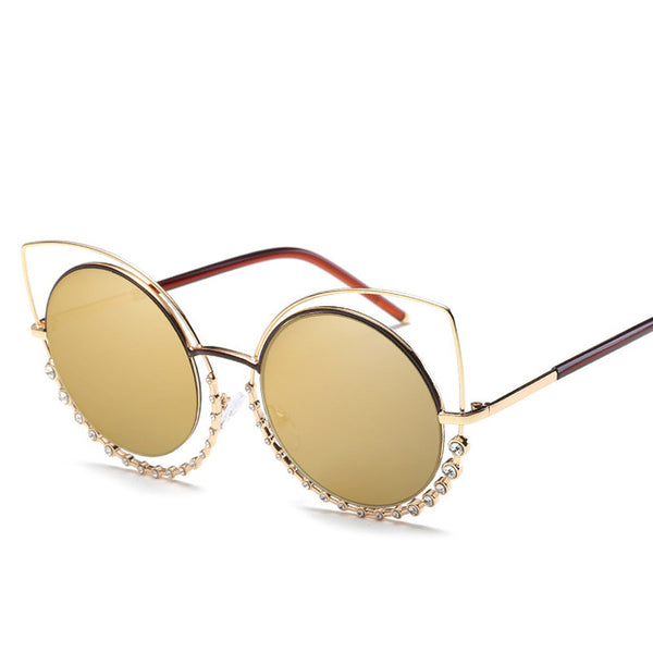 Luxury Diamond Sexy Cat Eye Sunglasses
