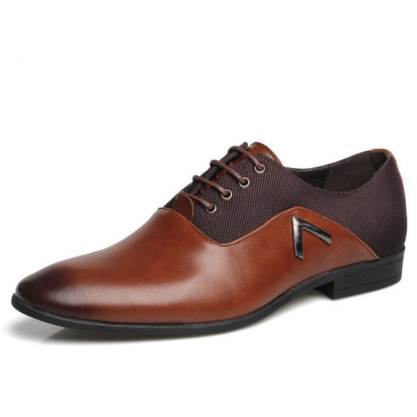 2017 Men Formal Leather Shoes Quality Brand Mens Dress Oxfords Shoes