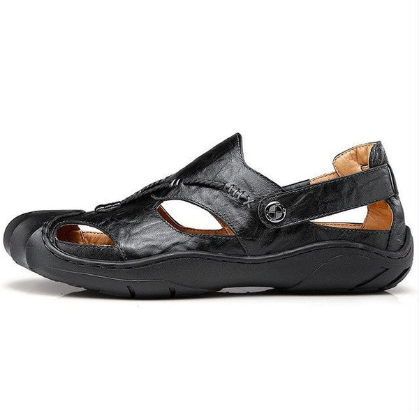 Men Leather Breathable Summer Beach Shoes