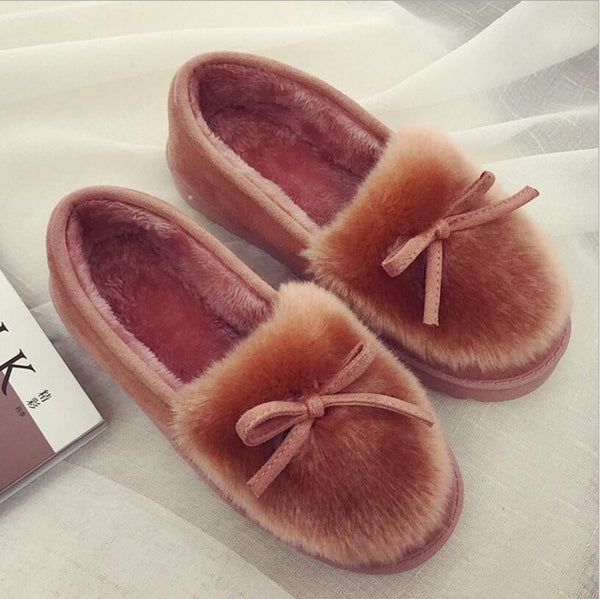 Shoes - 2017 women snow boots thick plush winter warm shoes