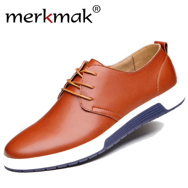 2018 New Brand Casual Leather Men's Shoes
