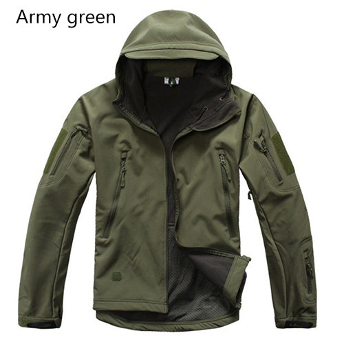 Men's Soft Shell Windproof  Military Tactical  Jacket