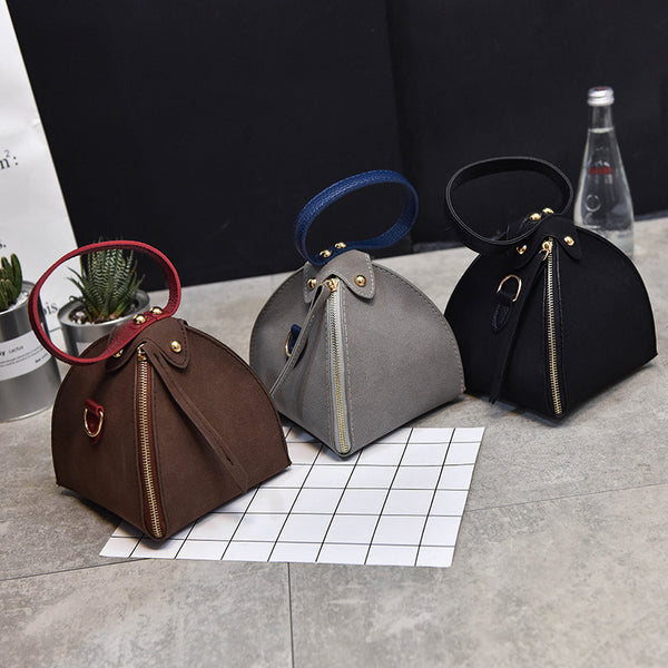 Women Bag - New Trendy Women Scrub Solid Triangle Clutches