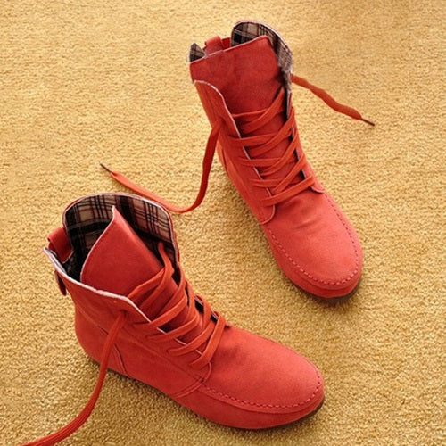Hot Autumn Soft Casual Flat Ankle Boots