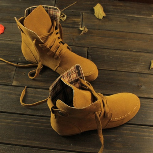 Boots Women S Fashion Tide Casual Flat Ankle Boots Stylenb