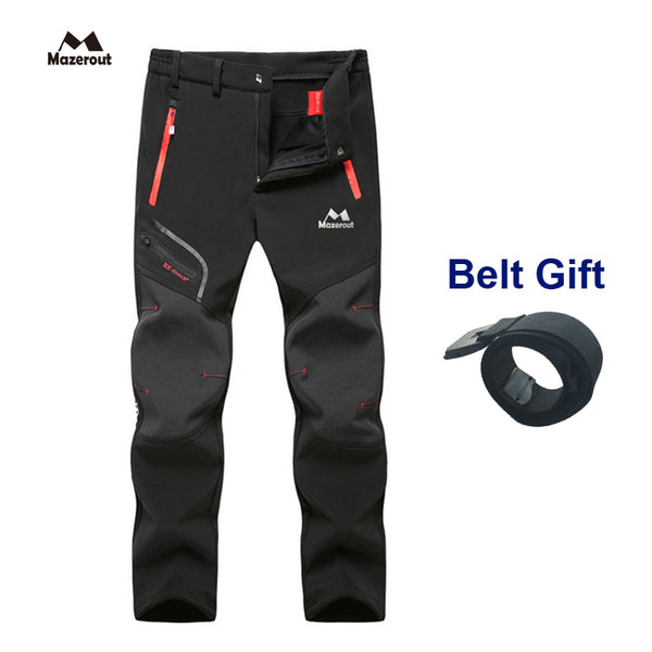 Outdoor Soft Camping Hiking Waterproof Pants + Belt Gift