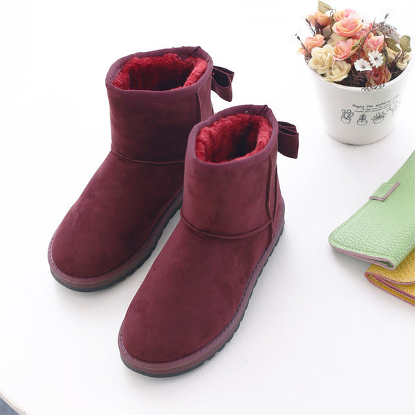 Boots--Women's Winter Plus Velvet Ankle Snow Boots