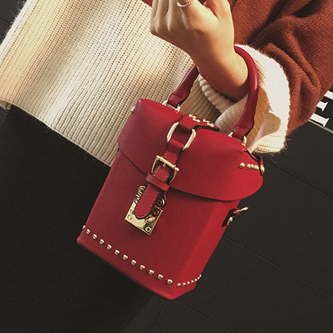 Bags - Women's Fashion Casual Retro With Rivets Box Bag