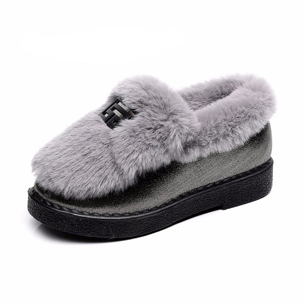Shoes-Fall and winter fashion plush warm shoes