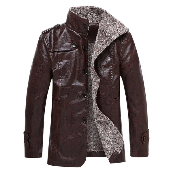 Clouth - 2017 Men's Warm Leather Jacket