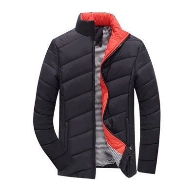 Coat-Men's Winter Warm Cotton Stand Collar Winter Jacket