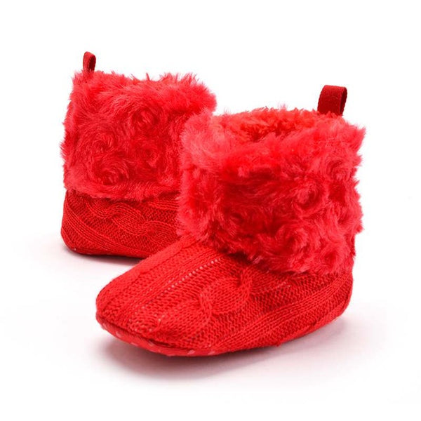 Shoes-0-18 months baby super warm knitted wool boots