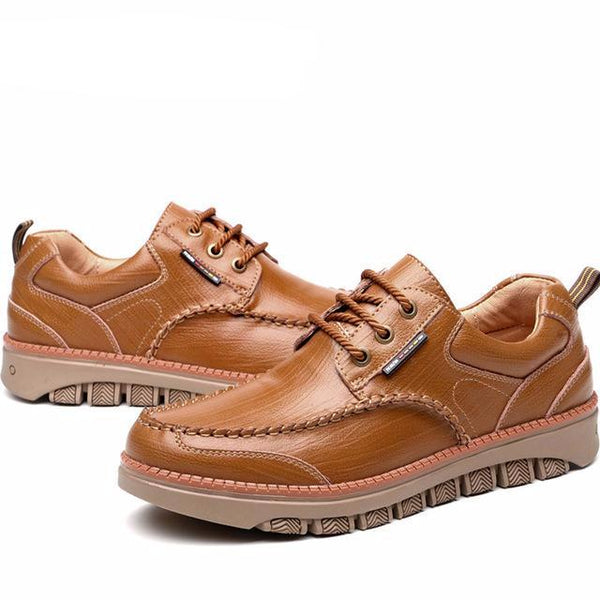 Shoes-Men's leather casual shoes waterproof non-slip more breathable