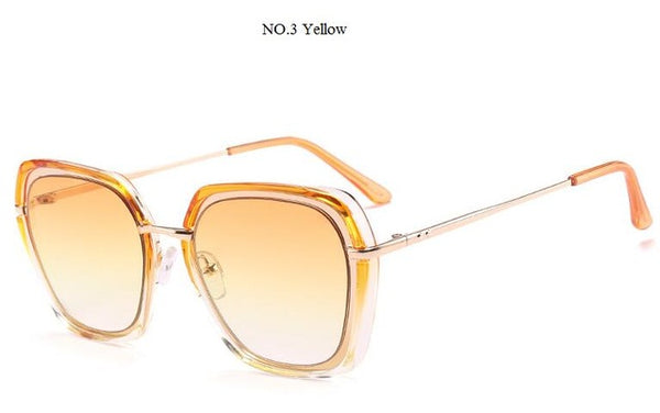 Luxury Women's Gradient Lens Cat Eye Square Sunglasses