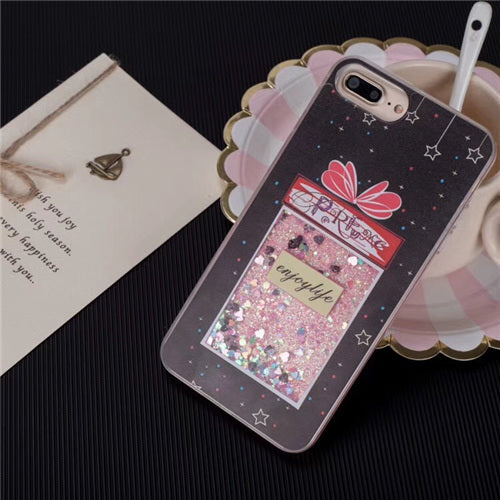 Drink bottle quicksand Dynamic liquid glitter Case for iphone