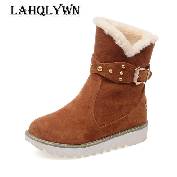 Shoes-Women's  Waterproof  Flat Snow Boots