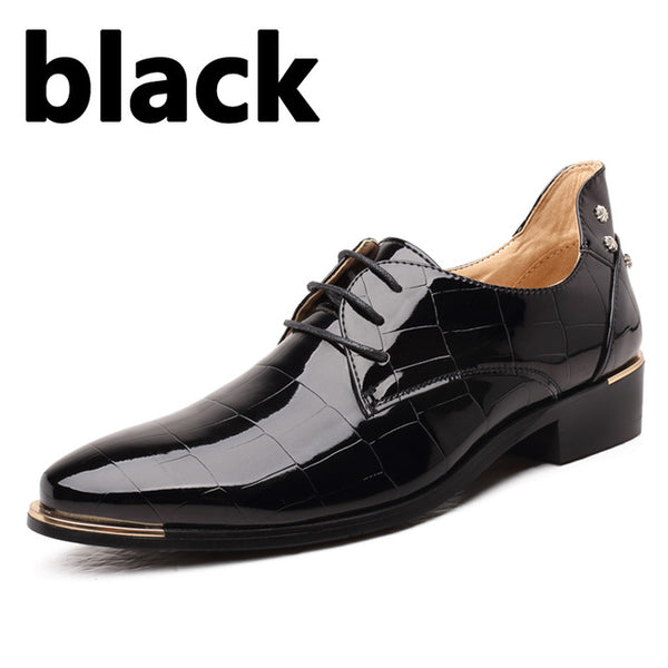 Shoes-2017 Men's Casual Fashion Patent Leather Oxford Shoes
