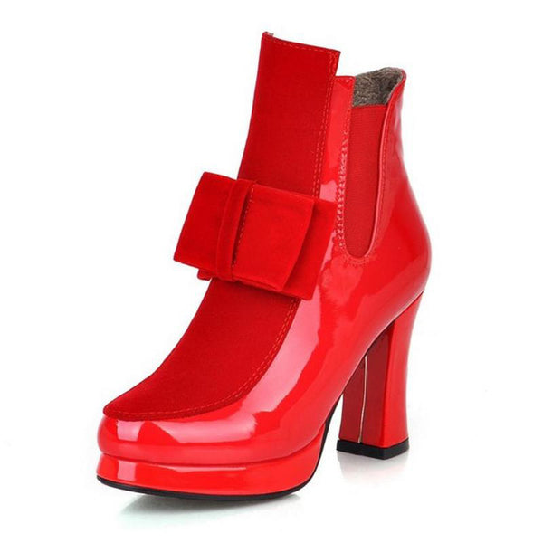 premium selection b3e54 40912 Shoes-2018 New Fashion 100% Leather Red Bottom Sole Women's High Heels Boots