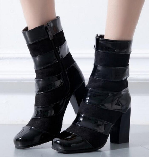 Shoes - 2017 women's fashion punk-style high-heeled boots