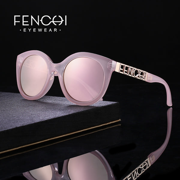 Sunglasses- Women's Fashion Cat Eyes Driving Mirror Metal Sunglasses