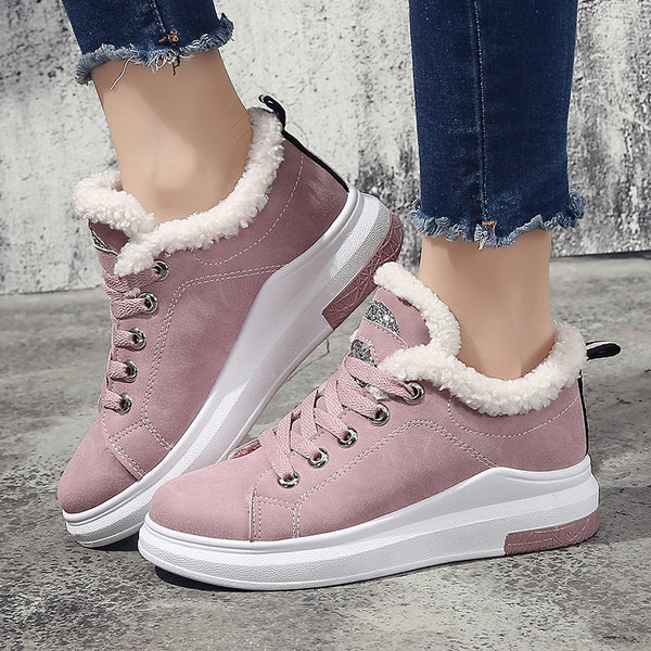 86449f015 Women's Shoes-Winter Warm Women Casual Sneakers Shoes